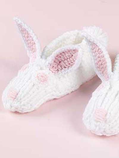 Knit Bunny Slippers photo