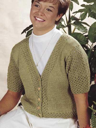 Smart Cotton Lace Cardigan photo