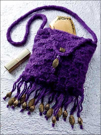 Beaded Basket-Weave Bag photo