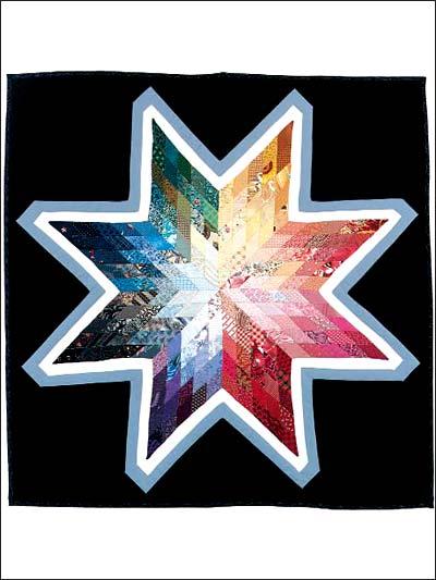 Rainbow Star Charm Quilt photo