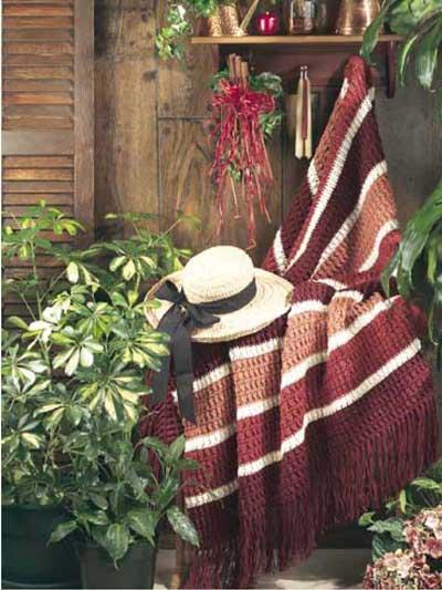 Cinnamon Stripe Afghan photo