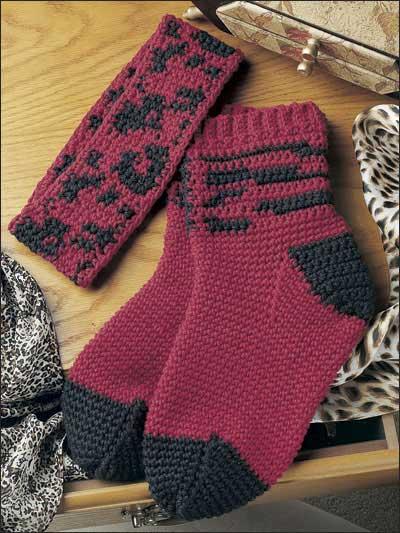 Leopard Socks & Headband photo