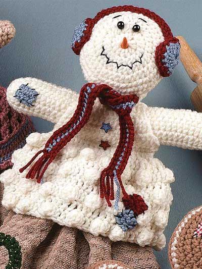 Snowman Towel Topper photo