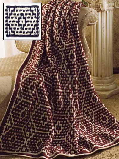 Mosaic Pottery Afghan photo