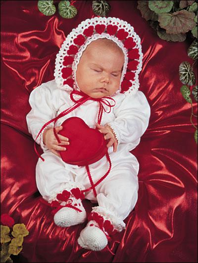 Little Sweetheart Bonnet & Booties photo
