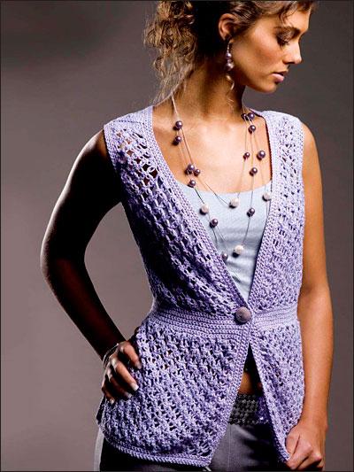 Lavender Lace Vest photo