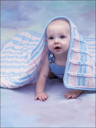 Crocheted Crib Cover photo