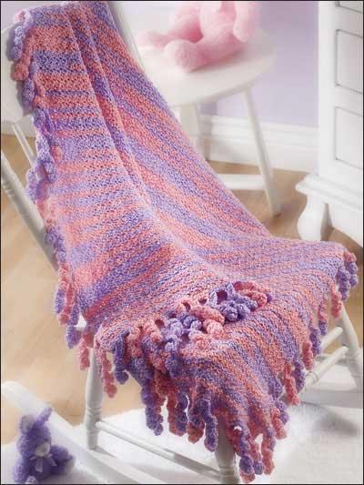 Swirly-Fringed Blanket photo