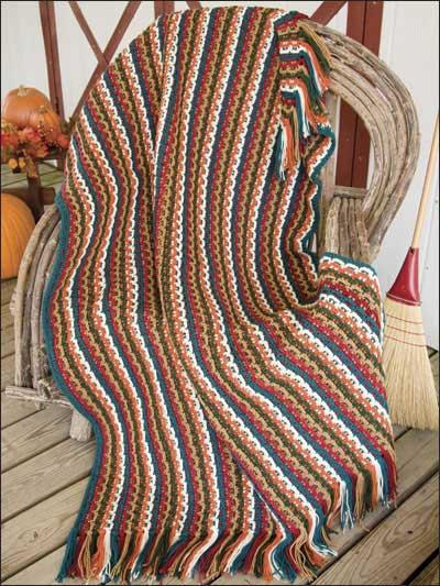Textured Stripe Harvest Throw photo