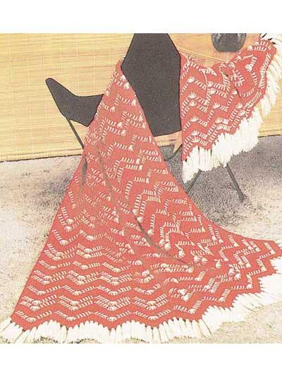 Chevron Tweed Afghan photo