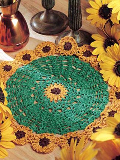 Sunflower Doily photo