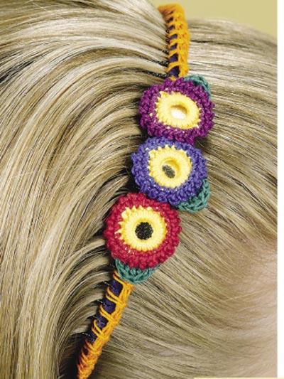 Flower Time Headband & Pin photo