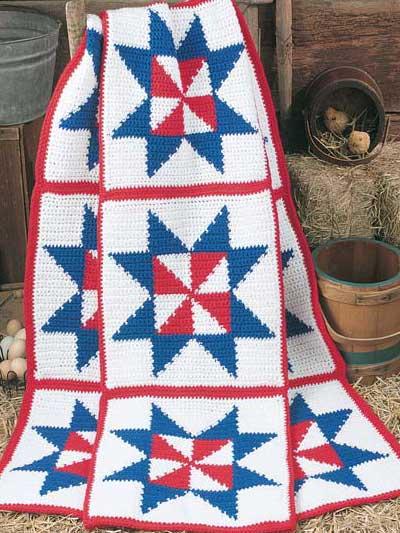Patriotic Pinwheel Afghan photo