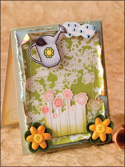 Flirty Flower Card photo