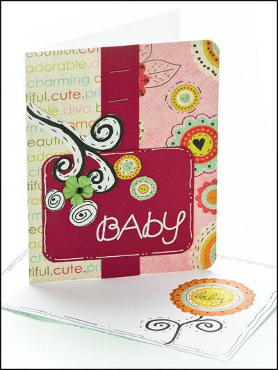 Baby Flourish Card photo