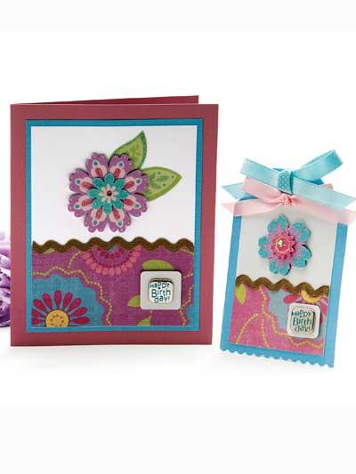 Blossom Sparkle Card & Tag photo