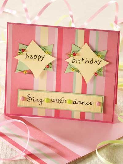Pink Beaded Happy Birthday photo