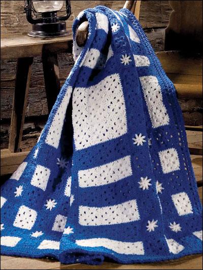 Snowflakes in Blue Throw photo