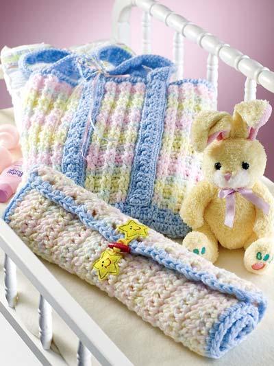 Li'l Stripes Diaper-Changing Set photo
