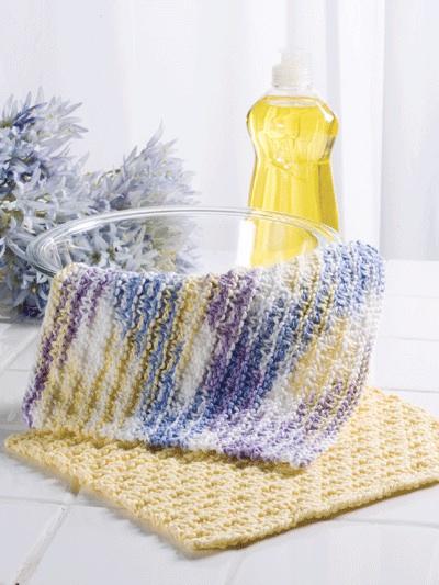 Checkered Stripes Dishcloth photo