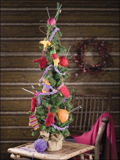 Knitter's Christmas photo