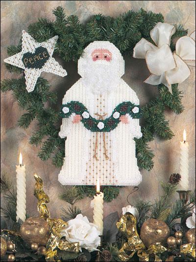 Peace Santa Wreath photo