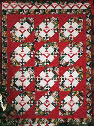 Santa's Nine Patch Quilt photo