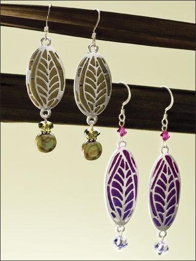 Ombre Leaves Earrings photo