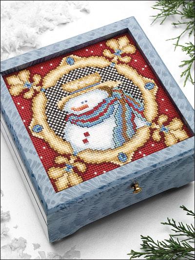 Snowman Tapestry Box photo