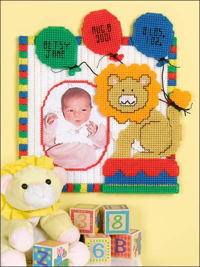 Baby Leo Birthday Frame photo