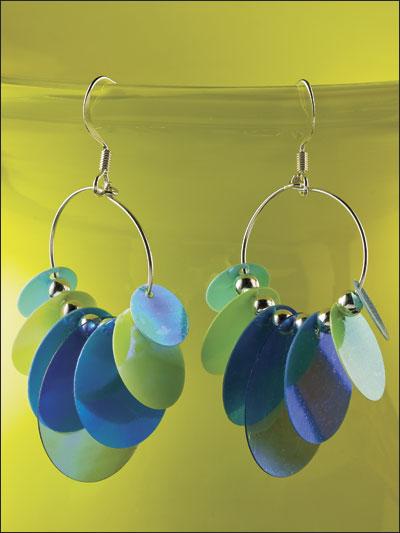 Sassy Sequin Hoop Earrings photo