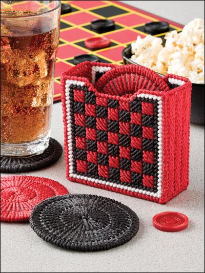 Checkers Coasters photo