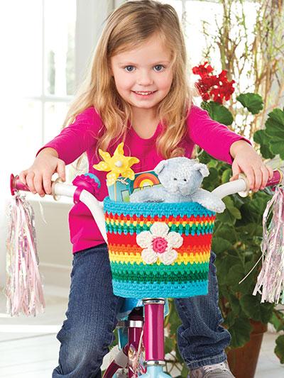 Rainbow Bike Basket photo