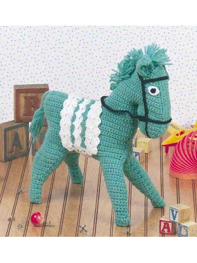 Crocheted Horse I photo