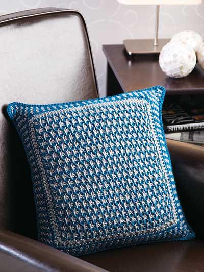 Textured Tunisian Pillow photo
