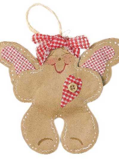 Gingerbread Angel Ornament photo