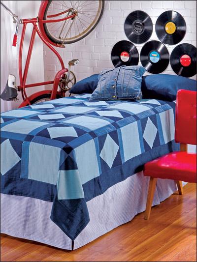 Denim Dorm Quilt photo