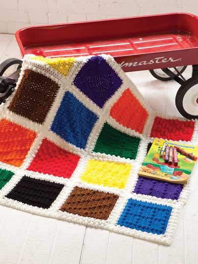 Crayon-Box Blanket photo