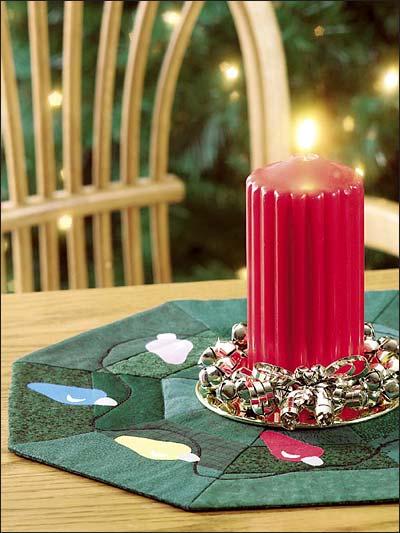 Christmas Lights Table Mat photo