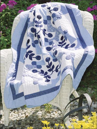 Blue Floral Lap Quilt photo