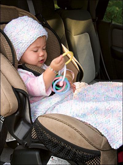 Baby Diamonds Hat & Blankie photo