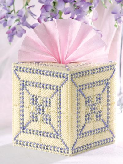 Smyrna Cross Stitch Tissue Cover photo