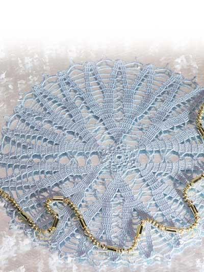 Icy Blue Snow Crystal Doily photo