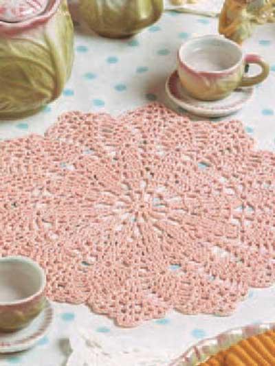 Pink Blush Doily photo