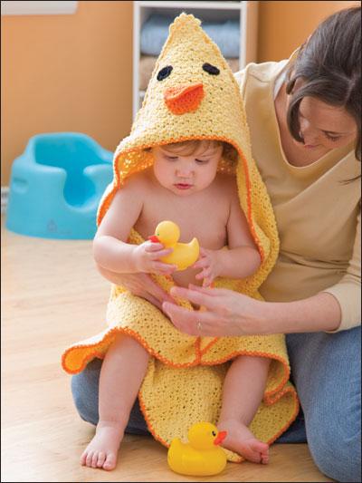 Duck Hooded Towel & Bath Mitt photo