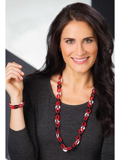 Beaded Buckles Necklace & Bracelet photo