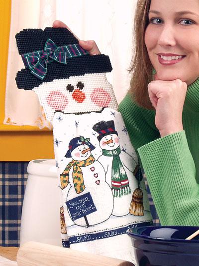 Snowman Towel Holder photo