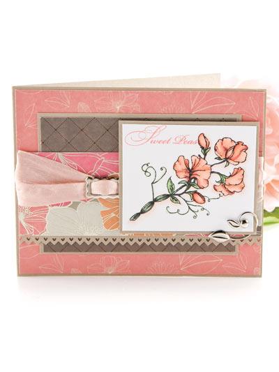 Sweet Peas Card Design photo