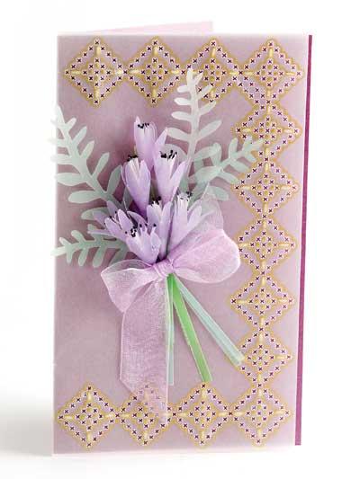 Lavender Bouquet Card Design photo