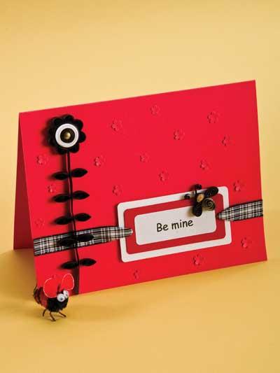 Be Mine Valentine's Day Card photo